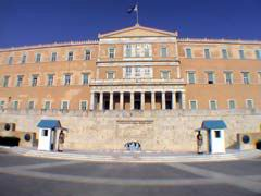 Le parlement  situe a Place Syntagma