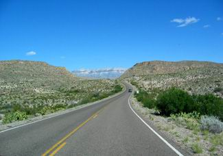 Route menant a Big bend